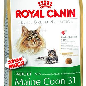 Kompletna hrana posebno pripremljena za potrebe Maine Coon mačke.